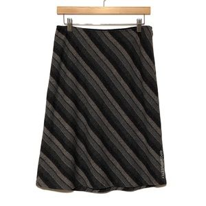 Gap Recycled Wool Striped Midi Skirt